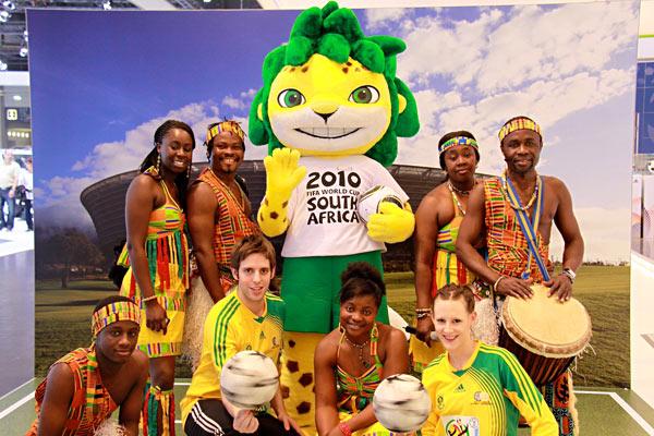 Fußball WM Show auf der Auto Mobil International