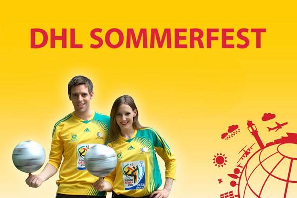Die Fußballartisten auf dem DHL Sommerfest 2015