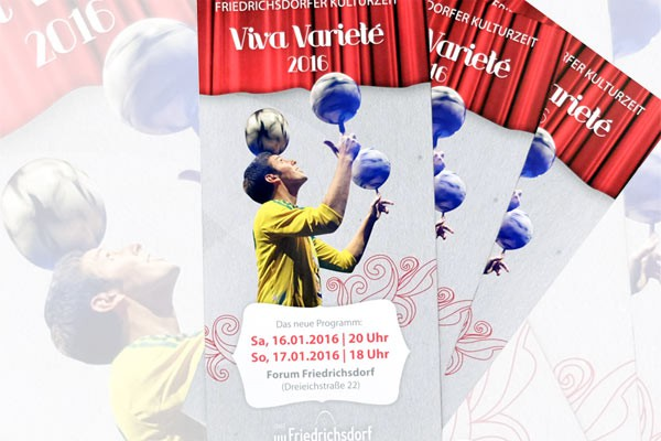Fußballjongleur Sebastian Heller auf dem Cover des Programms »Viva Varieté 2016«