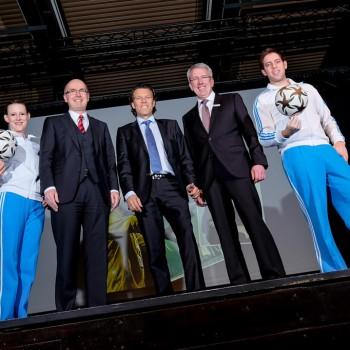 Miriam Willems, Thomas Toebe, Urs Meier, Uwe Hacke & Sebastian Heller (Foto: Dietrich Kühne)