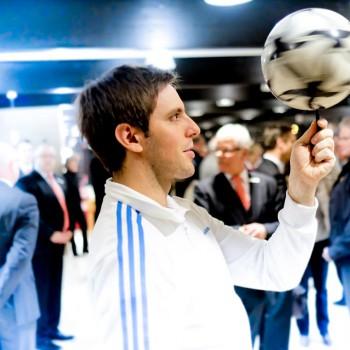 Fußballartist Sebastian Heller (Foto: Dietrich Kühne)