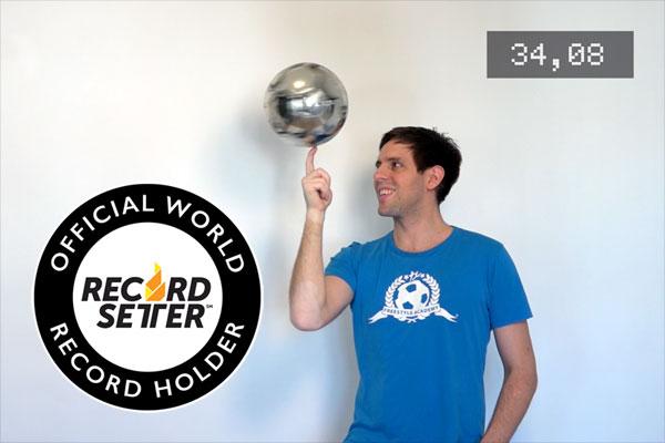 Weltrekord Balldrehen - World Record Ballspinning