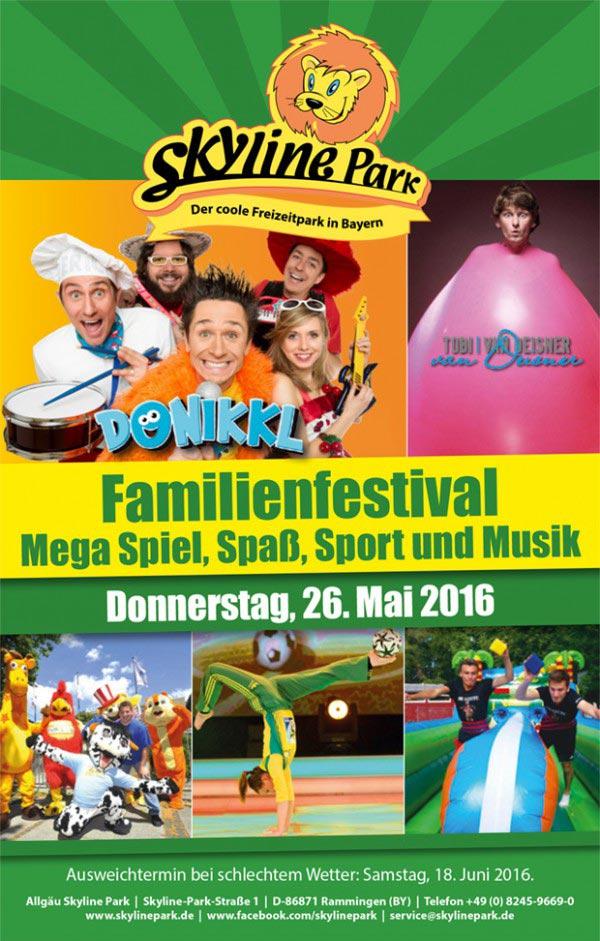 Familienfestival-Skyline-Park mit Fußballjongleur Sebastian Heller und Ballartistin Miriam Willems
