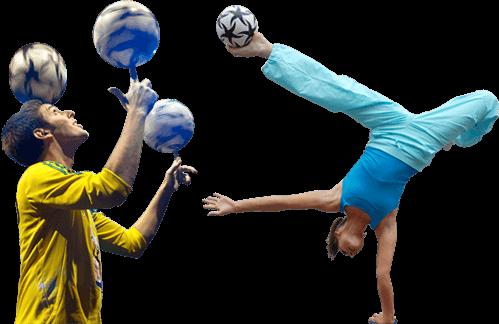 Die Fußballartisten - Fußball Jongleur und Fußball Artistin 2018
