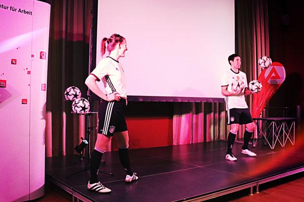 Fußball Entertainment bei Fachvorträgen